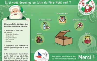 Votre boutique devient un lutin du père Noël, initiative en faveur des enfants dans le besoin.